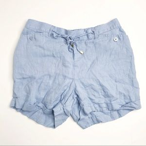 ELLEN TRACY Drawstring Loose Shorts